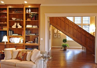 living-room-with-wooden-stairs